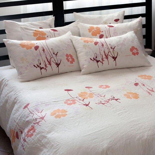hand-printed luxury bedlinen