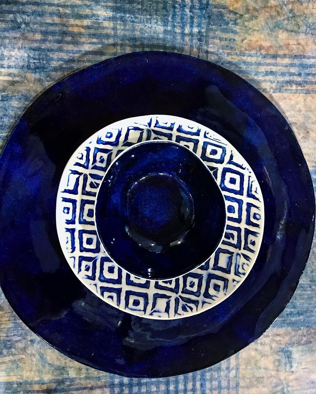 handmade bespoke porcelain plate