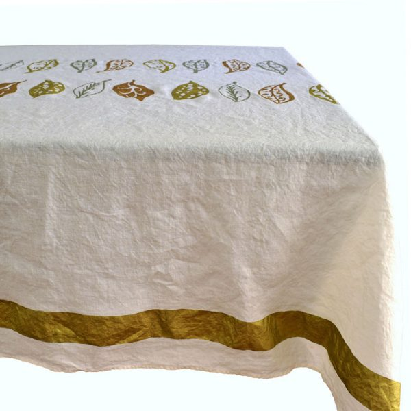 luxury gold linen tablecloth