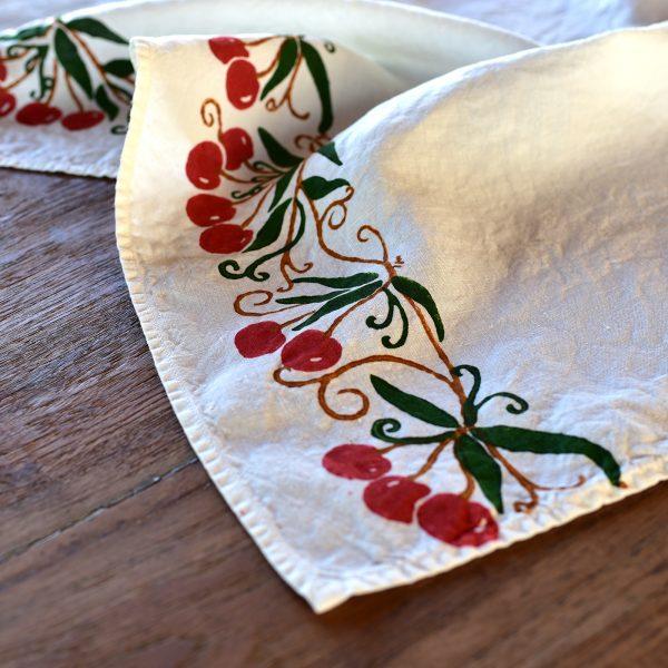 Italian kitchen towel cherry