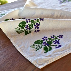 Italian kitchen towel flowers