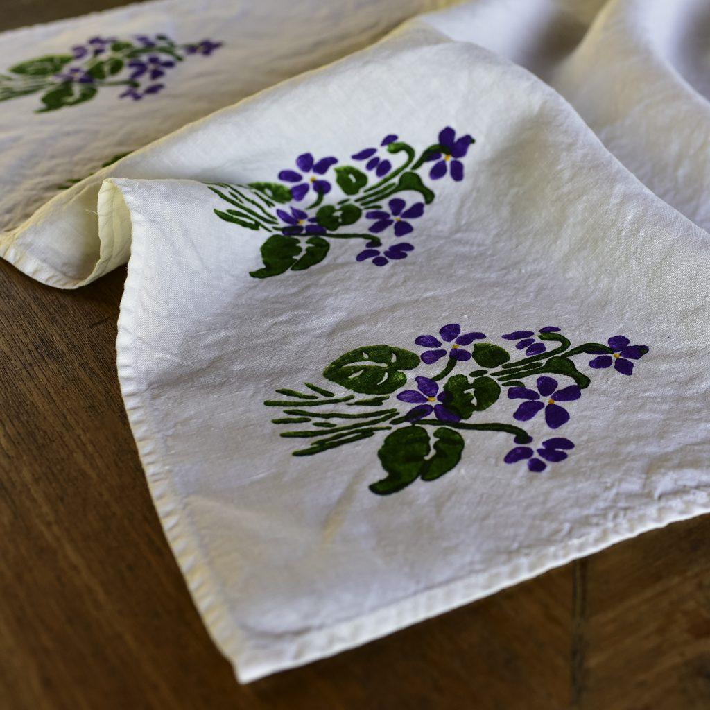 Bertozzi linen tea towels flowers