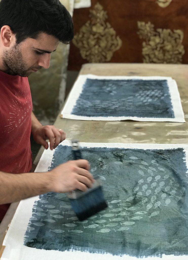 Bertozzi fish linen towels