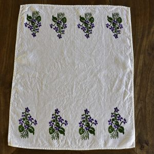 Bertozzi flowers linen tea towel