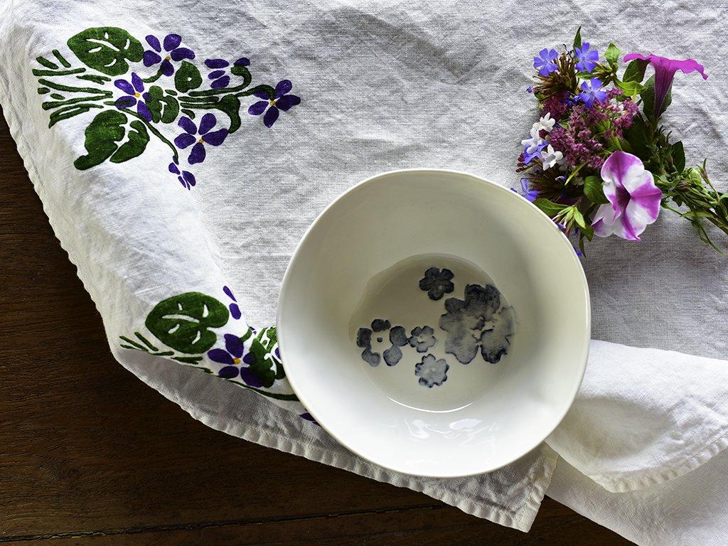 Bertozzi natural linen tea towel