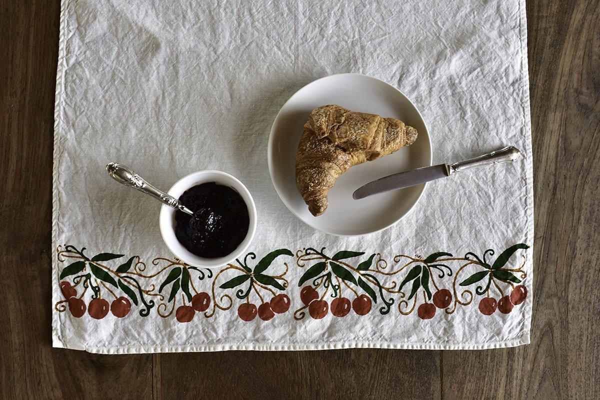italian kitchen towels cherry