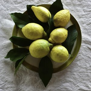 Handcrafted italian lemon towel