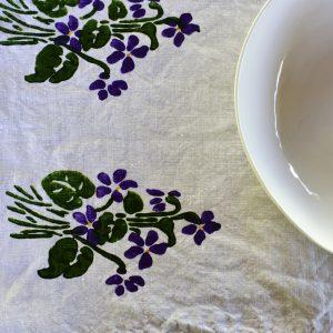 Bertozzi hand-printed linen tea towel
