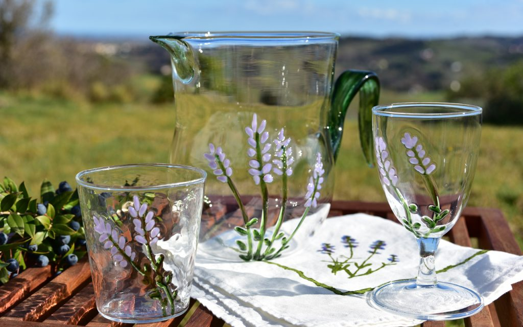 hand blown glassware