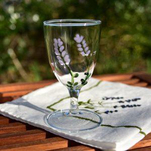 Hand-blown wine glass