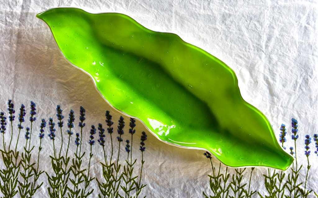 fused glass centrepiece