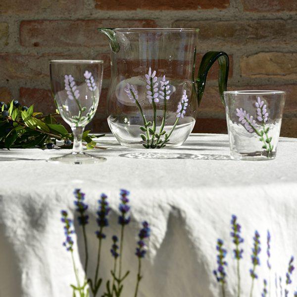 Hand-Blown Murano Glassware - Lavender Flowers