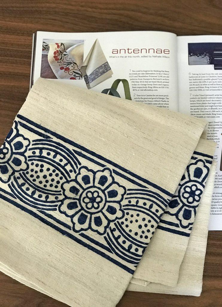Vintage hemp linen towel