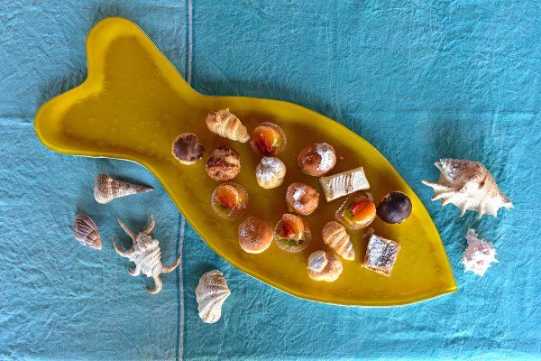 Handmade fish tableware