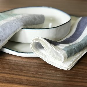 hand painted linen napkin
