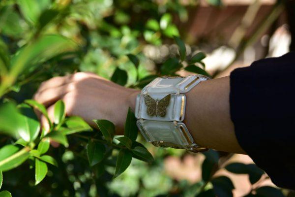Murano Glass bracelets ivory