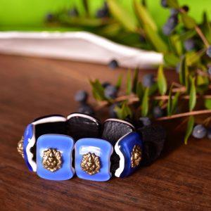 handmade murano glass bracelet blue
