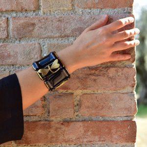 black murano glass bracelet