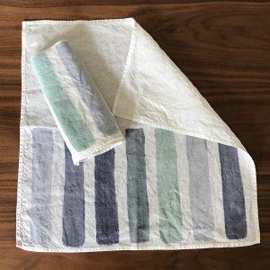 Hand Painted linen napkin brushstroke