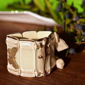 Murano glass bracelet ivory