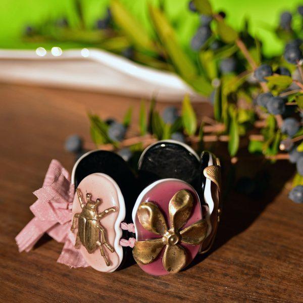 murano glass bracelet pink